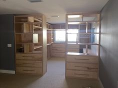 Custom closet fabricated & installed by the Rustic Rooster!