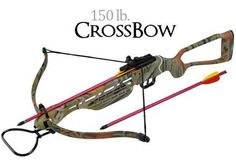 150 lb. Camo Crossbow Cross Bow Hunting Hollow Stock Camouflage