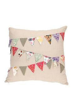 Bunting Pillow: I love all things bunting related, and this pillow is no exception!