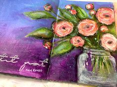 PAINTING ROSES WITH ACRYLICS & GESSO – Mixed Media Art Tutorials