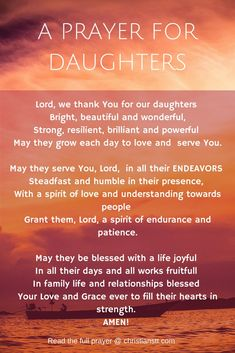 A prayer for daughters