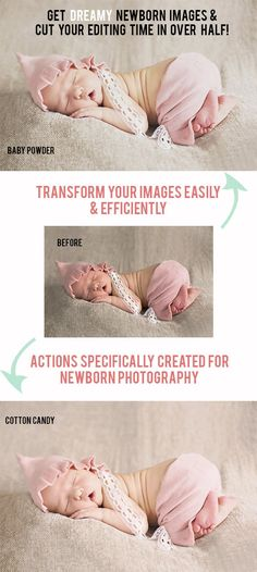 Photography -PS + PSE Newborn Photoshop Actions (Photoshop CS2-CS6 and Elements 11-12)