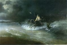 Poseidon - Aivazovsky, Ivan Konstantinovich - Gallery - Web gallery of art Jesus Walk On Water, Web Gallery, Art Database, Oil Painting Reproductions, Russian Art, Gods And Goddesses, Painting & Drawing, Artwork, Travel
