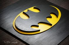 Batman superhero. Wooden wall art. 12 x 12 inches (30 x 30 cm)