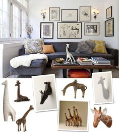 Style Your Home With a Giraffe Stampede - www.casasugar.com