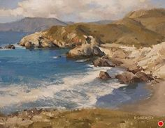 Overlooking Shark Harbor by Laurie Kersey Oil ~ 11 x 14