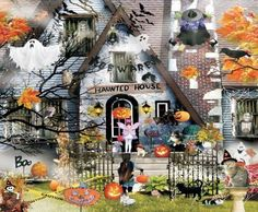 SunsOut Puzzle Haunted House Puzzle 1000 Piece Jigsaw Puzzles Halloween Toys New #SunsOut