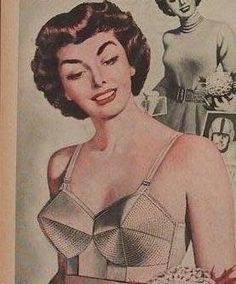 654d8782a01 Lenore owns a lingerie shop  think she has this bullet bra in stock  Vintage