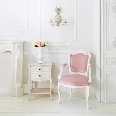 The Duchess Pink Chair | Bedroom Chair - Velvet French Bedroom Furniture