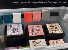 Storage for Distress Ink Foam Pads