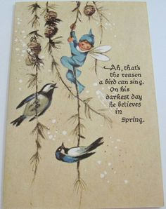 Fairy with birds