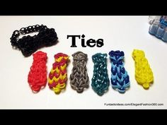 Rainbow Loom NECK TIE charm (Father's Day). Designed and loomed by Elegant Fashion 360. Click photo for YouTube tutorial. 05/06/14.