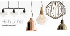 Industrial lights : Crate & Barrel