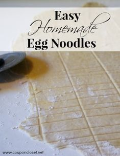 Homemade Egg Noodles - Eating on a Dime