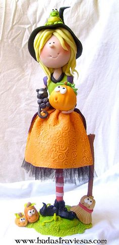 *POLYMER CLAY ~ brujita by hadastraviesas, via Flickr