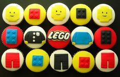 Funky awesome lego cupcakes - two of my favourite things :)