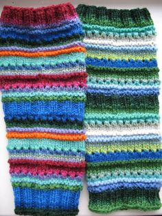 Leg warmers Multicolored  blue red green orange by Initasworks, $36.00