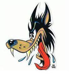 neo custom wolf tattoo cartoon wolf tattoo bear cartoon tattoo on leg Cartoon Character Tattoos, Cartoon Tattoos, Cartoon Drawings, Cartoon Characters, Retro Cartoons, Classic Cartoons, Vintage Cartoon, Bad Wolf Tattoo, Wolf Tattoos