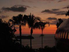 Sunset from the plane suite.    Manuel Antonio, Costa Rica    costaverde.com