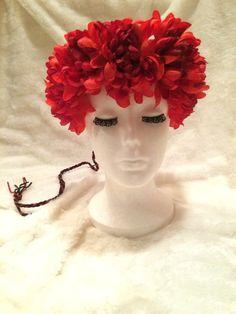 70's #Hippie #DaisyChain Dark #Red #AsterMum  by EmpireCoutureCostume