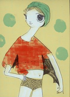 My Girl Friday by @Kelly Tunstall Bat Girl is ready for Summer in Mint turban and Jil Sander Top!