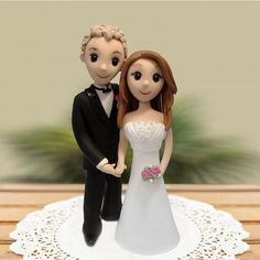 Bride & Groom Cake Topper