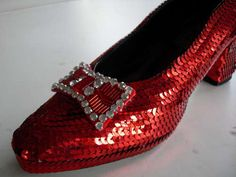 how to make ruby slippers from wizard of oz. I made these using this girls instructions and they look fantastic