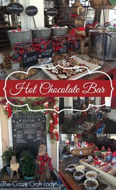Hot Chocolate Bar at Bachman's Ideas House - Winter 2013.  thecrazycraftlady.com