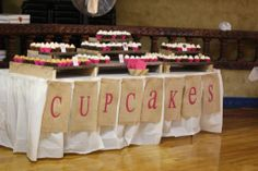 Rustic Cupcake Table made with pallet cupcake stands