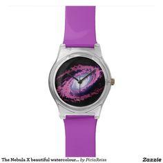 The Nebula X beautiful watercolour artwork watch