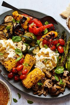 Sweet-and-Spicy Grilled Vegetables With Burrata Recipe - NYT Cooking Grilling Recipes, Cooking Recipes, Healthy Recipes, Vegetarian Grilling, Summer Vegetarian Recipes, Grilling Tips, Healthy Grilling, Vegetarian Food, Burrata Recipe