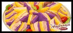 LSU or Mardi Gras sandwich tray