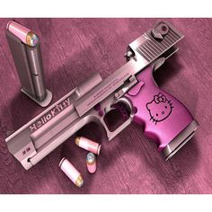 Hello Kitty Hell found on Polyvore featuring polyvore, weapons, hello kitty, guns and pics