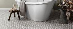 Pebble Grey Lattice floor in a bathroom