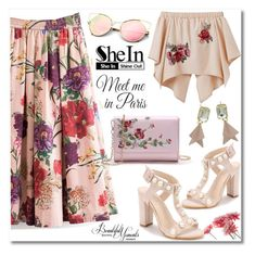 """""""Floral Shein"""" by mery-2601 ❤ liked on Polyvore featuring Wall Pops!, WithChic and modern"""