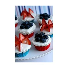 Summertime and Patriotic / July 4th Independence Day Sweet Treats  ... ❤ liked on Polyvore featuring food, pictures and backgrounds
