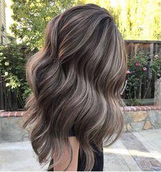 Blond Ash, Brown Blonde Hair, Ash Brown Hair Balayage, Grey Brown Hair, Soft Balayage, Long Brunette Hair, Hair Color Balayage, Hair Highlights, Ash Brown Hair With Highlights