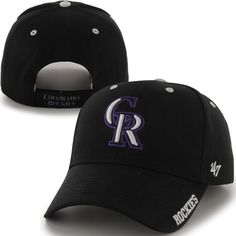 * Mens Colorado Rockies '47 Brand Black Frost Structured Adjustable Hat, Your Price: $19.99