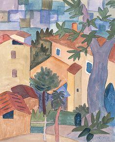 Dorf, 1922         © Fondazione Hermann Hesse Montagnola (German/Swiss poet and writer)