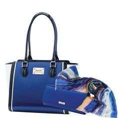 Serenade Leather Piaf Handbag Scarf Seahorse Silks New 100 Cashmere Beautiful Blues Available At Maisyandmabel Au