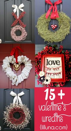 It's #HowToTuesday! With Valentine's Day  around the corner, these 15 beautiful DIY #VDay wreaths are sure to brighten your door!