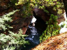 Apostle Islands National Lakeshore, WI. Hiking near the sea caves.