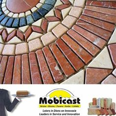 Brick Mosaic design, how creative!  Mobicast ( Bricks, Blocks, Pavers and Kerbs ) - your first choice supplier of #bricks, #paving, cladding and retaining blocks.