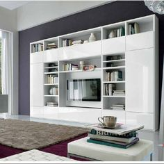 building a house Living Room Bookcase, Condo Living Room, Living Room Storage, Home And Living, Living Room Decor, Bedroom Decor, Family Room Walls, Muebles Living, Small House Plans