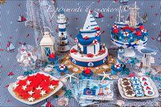 Nautical sweet table