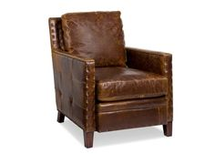 Elkhorn Leather Chair by Randall Allan