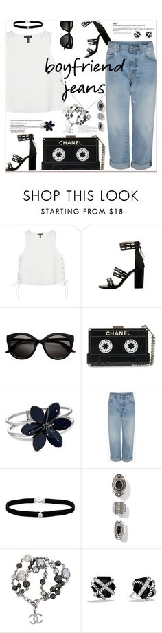 """""""Borrowed from the Boys: Boyfriend Jeans"""" by marialibra on Polyvore featuring rag & bone, Alexander McQueen, Amanda Rose Collection, Chanel and David Yurman"""