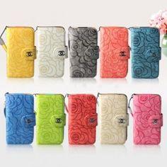 ブランドCHANEL シャネルiphone5 5S アイフォン5Cスマホカバー #花柄 #手帳型