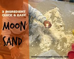 Moon sand is so easy to make and you only need 3 simple ingredients!