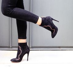 Nour Jensen A/W '15 Black Cut Out Bootie - So chic! #style #fashion #nourjensen